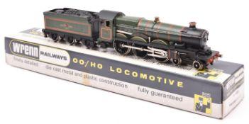 Wrenn Railways B.R. Castle Class 4-6-0 Tender Locomotive 'Cardiff Castle' RN4075 (2221). In lined