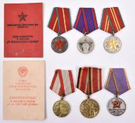 Russia (6): Valiant Labour medal (instituted 1938), with Lilac and gold edged ribbon; Good Conduct