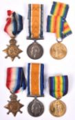 WWI trios: 1914-15 star, BWM, Victory (311608 W L Hopkins, S.P.O., RN) VF and GVF (victory ribbon