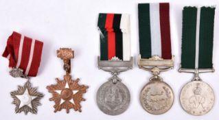 Pakistan: Independence medal 1947 (7008440 Cfn Mohd Sabir P.E.M.E) VF; Republic Day medal 23rd March