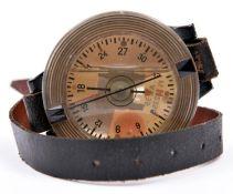 German AK39 pilot's compass. Plastic casing, marked Fl 23235-1, serial 6023. 60mm in diameter,