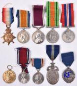 Three: 1914 star, (9184 Sgt J W Tingey 3 Worc. R), BWM (WO Cl 2), no Victory medal present, Army