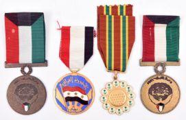 """Gulf War period medals (3): Saudi Arabia combat medal Nuth Al-Ma""""rkat and 2 Kuwait Liberation"""