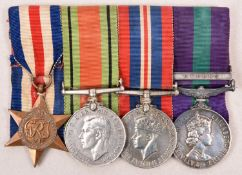 Four: France and Germany star, Defence, War medal, GSM 1962 1 clasp Cyprus (2296 Pte P.C.H. Bell,