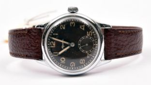 D marked Alpina wristwatch. Serial D97215. Plated case, refinished, 32mm without crown. Screw