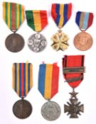African nations medals (7): Congo Republic medal for sporting merit, ditto agricultural merit,