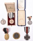 5 German medals: Prussian Friedrich Wilhelm IV 1848-1849 War Medal; Prussian iron medal for the