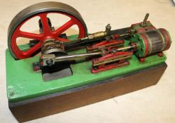 A Single Cylinder Horizontal Engine. A well constructed and detailed model constructed from brass