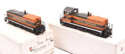 An HO gauge TID Trains Inc., American outline 'Cow & Calf' Unit, EMD TR-6 1600HP locomotive in two