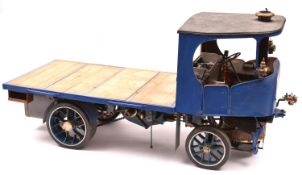 A live steam Clayton Undertype Steam Wagon in two inch scale. Built to a good level of detail with a