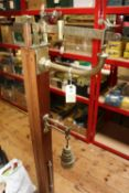 A set of late 19th Century Victorian weighing scales by W&T Avery, Birmingham Ltd. In brass and
