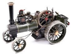 A 'Minnie' Traction Engine in one inch scale. Built from castings with some issues which would