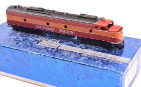 An HO gauge Balboa American outline locomotive. A brass model of a Southern Pacific Co-Co diesel