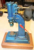 A Stuart Models Steam Hammer. A well constructed and detailed model with one inch cylinder, drain