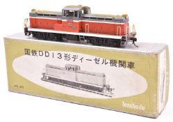 A Tenshodo, Japan, HO gauge Japanese National Railways locomotive (No.475). A well detailed brass