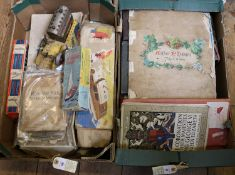 350+ Edwardian/Victorian postcards in 3 albums. Subjects include; local views in Britain, protraits,