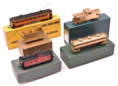 8x HO gauge Japanese manufactured brass railway models in American outline. 4x Orion, Japan,