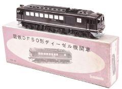 A Tenshodo, Japan, HO gauge Japanese National Railways locomotive (No.450). A well detailed brass