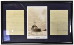 17x Framed prints of military aircraft and ships. All very well mounted and framed. 4x as limted