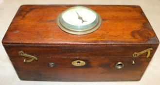 A 19th Century Magneto machine in a mahogany case with magnetic indicator to lid. GC-VGC for age. £