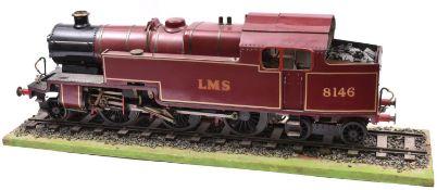 A 3.5 inch gauge Martin Evans 'Jubilee' live steam locomotive. A 2-6-4T locomotive, popular in