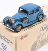 Lansdowne Models LDM.84 1937 M.G. VA Saloon. In mid blue with dark blue interior, 'MG 6590' number