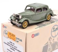 Lansdowne Models LDM.74 1937 Riley 12/4 Continental Touring Sedan. In light green with red
