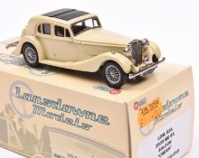 Lansdowne Models LDM.53A 1939 M.G. SA Saloon. In cream with light brown interior, 'BRX 351' number