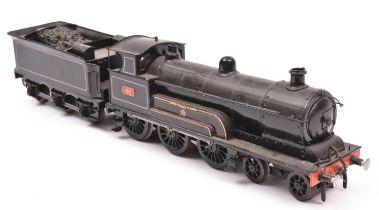 A finescale O gauge kitbuilt model of a LNWR Experiment Class 4-6-0 tender locomotive, Experiment