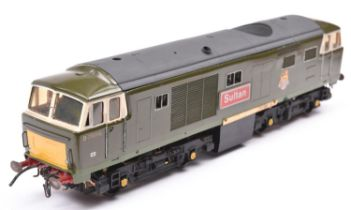A coarse scale O gauge scratchbuilt model of a BR Class 35 Bo-Bo Warship diesel locomotive, Sultan