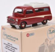Lansdowne Models LDM.33a 1960 Bedford Dormobile 'Romany-De Luxe'. In 'Light Maroon/White' with