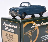 Lansdowne Models LDM.7B 1956 Ford Zephyr Six Convertible. In blue with similar blue interior and