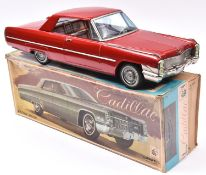 An Impressively Large Ashai Tinplate Friction Powered Cadillac Coupe De Ville 2-Door Coupe. In