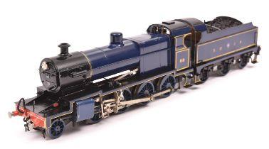 A finescale O gauge kitbuilt model of a Somerset & Dorset Joint Railway Class 7F 2-8-0 tender
