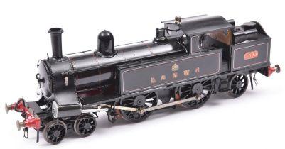 A finescale O gauge kitbuilt model of an LNWR 4-4-2T Webb Metropolitan tank locomotive, 3095, in