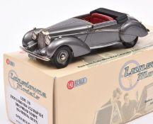 Lansdowne Models LDM.78 1939 Lagonda V12 Rapide Drophead Coupe. In metallic gun metal grey with deep