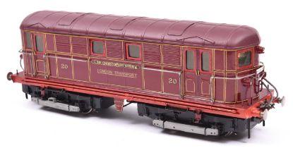 A finescale O gauge kitbuilt/scratchbuilt model of an LT Metro-Vick Bo-Bo electric locomotive, Sir