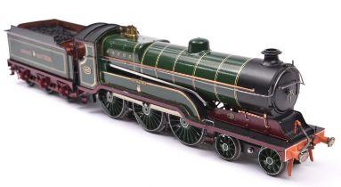 A finescale O gauge kitbuilt model of a Great Central Railway Class B2 4-6-0 tender locomotive,