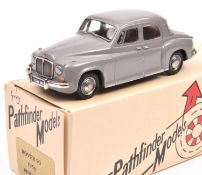 Pathfinder Models PFM2 1956 Rover 90 Saloon. In grey with brown interior, ''TGW 343' number