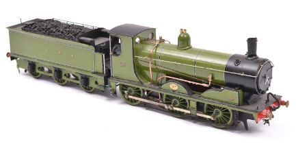 A finescale O gauge kitbuilt model of an LSWR Class 700 0-6-0 Drummond tender locomotive, 687, in