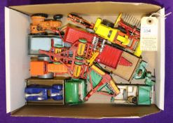 14 Dinky Toys. Land Rover & Trailer. Loud Speaker Van. Austin Seven Countryman. Motocart. Aveling
