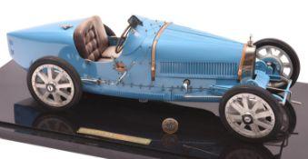 A fine scale Art Collection Model of a Bugatti Type 35 G.P. De Lyon 1924 2-Seater Sports Car. Made