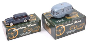 Lansdowne Models LDM.16A 1961 Humber Super Snipe Estate. in dark 'Corinth' blue with deep red