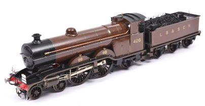 A finescale O gauge kitbuilt model of an LBSCR Class H2 Marsh Atlantic 4-4-2 tender locomotive, 426,