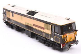 A finescale O gauge kitbuilt model of a Pullman Class 73 Bo-Bo diesel locomotive, Brighton Evening