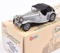 Lansdowne Models LDM.63 1938 AC 16/80 Roadster. Top-up example with black roof, body in metallic