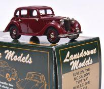 Lansdowne Models LDM.28x 1947 M.G. Saloon, Type 'YA'. A W.M.T.C. 2000 Limited Edition, 1/110