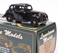 Lansdowne Models LDM.28 1947 M.G. Saloon, Type 'YA'. In black with light brown interior, 'UMG 511'