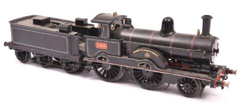 A finescale O gauge kitbuilt model of a LNWR Improved Precedent Class 2-4-0 tender locomotive,