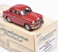 Lansdowne Models LDM.77 1957 Riley 1.5 Saloon. In 'Damask Red' with light grey interior, silver